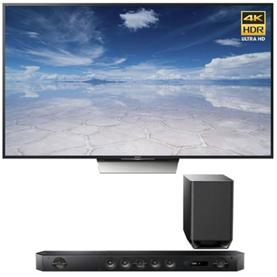 XBR-65X850D 65-Inch Class 4K HDR Ultra HD TV with Sony HT-ST9 Hi-Res Sound Bar