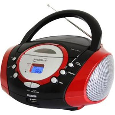 Portable MP3 CD Player in Red - SC - 508