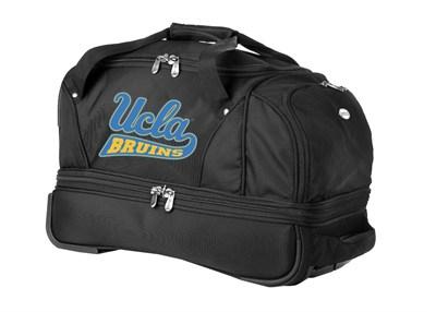 22-Inch Drop Bottom Rolling Duffel Luggage, Black - UCLA Bruins