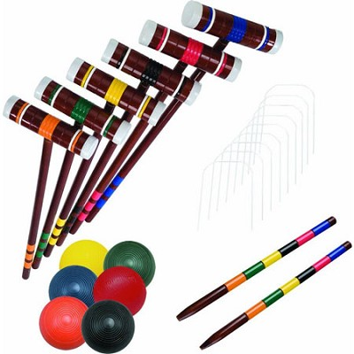 Advanced 6-Player 29.5` Mallet Croquet Set