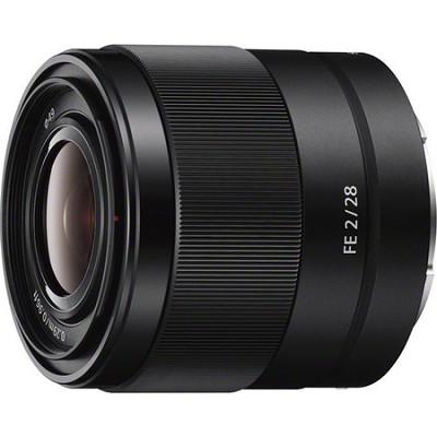 SEL28F20 - FE 28mm F2 E-mount Full Frame Prime Lens