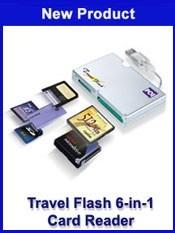 HIGH-SPEED TRAVEL FLASH 6-IN-1 USB CARD READER