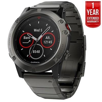 Fenix 5X Sapphire Multisport 51mm GPS Watch Gray,Metal +1Year Extended Warranty