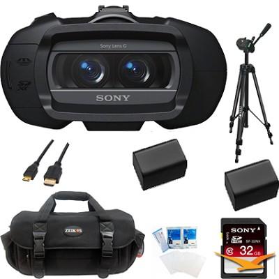 DEV5 - Digital Recording Binoculars - HD VIdeo 20x Zoom Traveler's Bundle