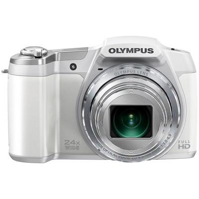 STYLUS SZ-16 iHS16MP 24x wide 48x Zoom 1080p HD 3 ` Hi-Res LCD-White - OPEN BOX