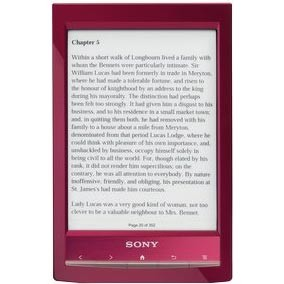 PRS-T1 6` Digital E-Ink Pearl eReader with Wi-Fi (Red)