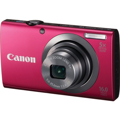 PowerShot A2300 16MP Red Digital Camera 5x Optical Zoom 720p HD Video
