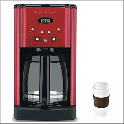 DCC-1200MR Brew Central 12-Cup Programmable Coffeemaker Metallic Red REFURBISHED
