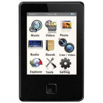 E8 Series 8 GB MP3 Video Player with 5 MP Camera and LED Flash