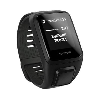 Spark 3 Cardio Music, Bluetooth GPS Fitness Watch/Heart Rate Monitor Black Large