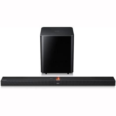 HW-F750 - 2.1-ch Wireless Hybrid Amp Soundbar w/ Wireless Sub/Blue - REFURBISHED