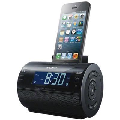 Lightning iPhone/iPod Clock Radio Speaker Dock (Black)