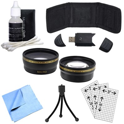 58mm Wide Angle & Telephoto Lens, Cleaning, Memory Card Wallet etc. (OPEN BOX)