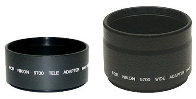 Lens Barrel Adapter Set f/ Coolpix 5400 (52MM Threads)