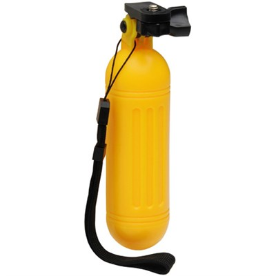 Yellow Floating Buoy Handle with Wrist Strap for Action Cameras