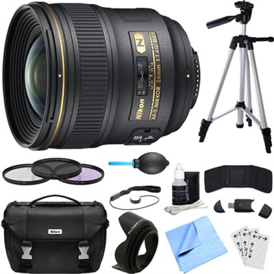 24mm F/1.4G ED AF-S Wide-Angle Lens Essential Accessory Deluxe Bundle