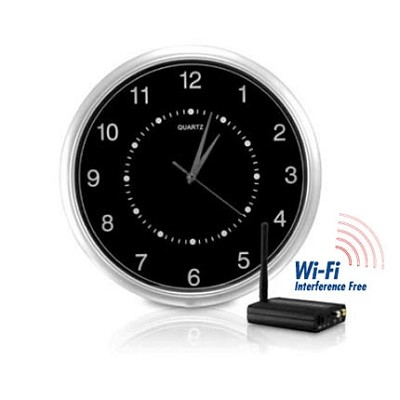 Wi-Fi Interference-Free Wireless Wall-Clock Hidden Camera Kit