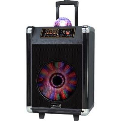 12` Portable Bluetooth DJ Speaker in Black with Disco Ball- IQ-3612DJBT