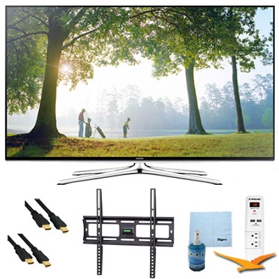 32` Full HD 1080p Smart LED HDTV 120Hz Plus Mount and Hook-Up Bundle - UN32H6350