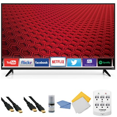 E55-C1 - 55-Inch 1080p 120Hz Smart LED HDTV + Hookup Kit