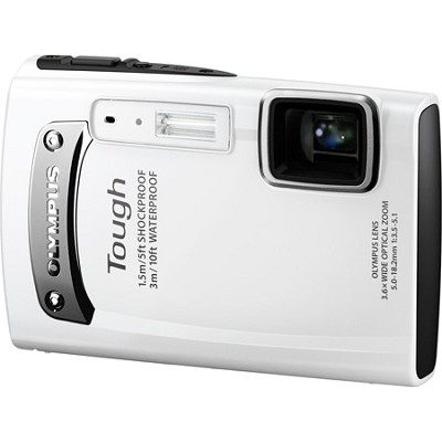 Tough TG-310 14 MP Waterproof Shockproof Freezeproof Digital Camera - White