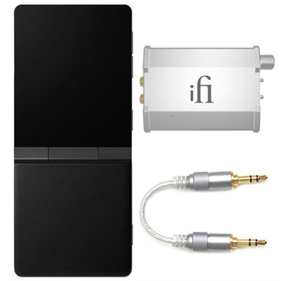 SuperMini High-Res Portable Music Player, Headphone Amplifier, and Cable Bundle