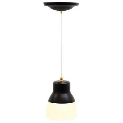 EL-5891 Pendant Bronze IR LED Light W/ Bronze Hardware & Frosted Glass Shade