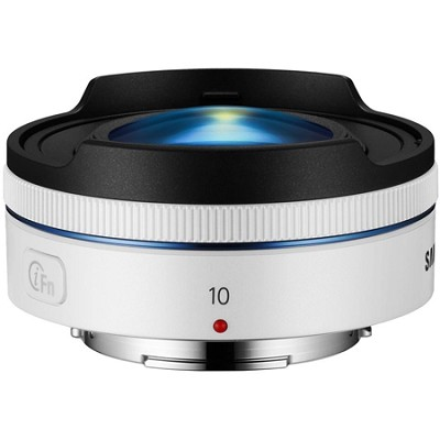 NX 10mm f/3.5 Fisheye Lens - White