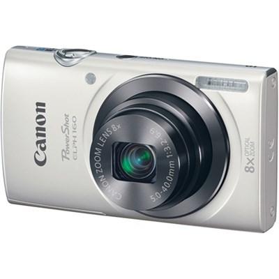 PowerShot ELPH 160 20MP 8x Opt Zoom HD Digital Camera - White - OPEN BOX