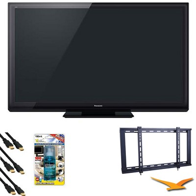 TC-P65ST30 65` VIERA 3D FULL HD (1080p) Plasma TV Value Bundle