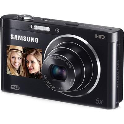 DV300F 16 MP 5X Wi-Fi Dual View  Digital Camera -Black-OPEN BOX