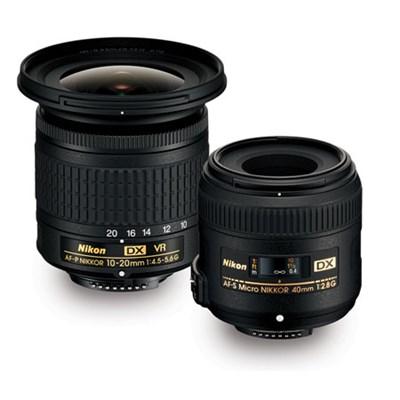 Landscape and Macro Two Lens Kit with AF-P DX 10-20mm VR & AF-S DX 40mm Lens