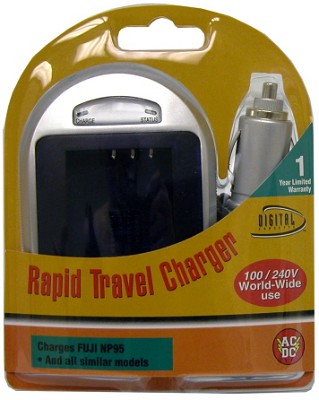 Digital Concepts AC/DC Rapid battery charger for Fuji NP-95 Battery
