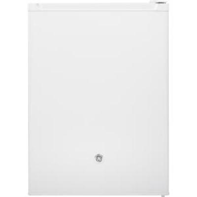GE 5.6 CF Glass Shelves White