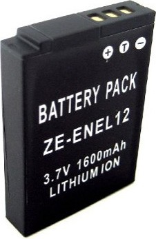 EN-EL12 1600mAh Lithium Battery for Nikon Coolpix S6100, S710, S70 & Similar