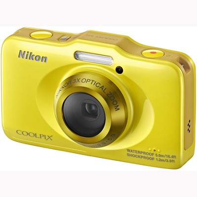 COOLPIX S31 10.1MP 720p HD Video Waterproof Digital Camera - Yellow