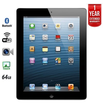 iPad Retina Display MD512LL/A (64GB, Wi-Fi, Black) 4th Gen - Refurbished
