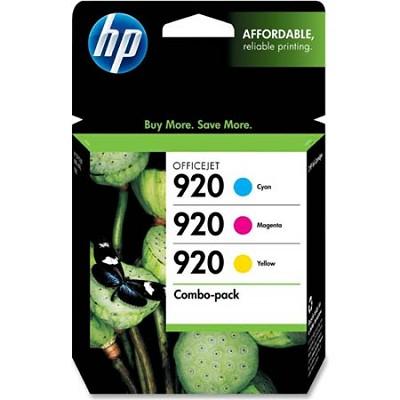 920 Combo-pack Tri-Color Officejet Ink Cartridges