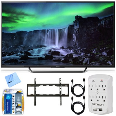 XBR-65X810C - 65-Inch 4K Ultra HD 120Hz Android Smart LED TV Flat Mount Bundle