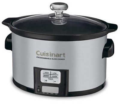 3.5 Quart Programmable Slow Cooker, Brushed Stainless Steel PSC-350