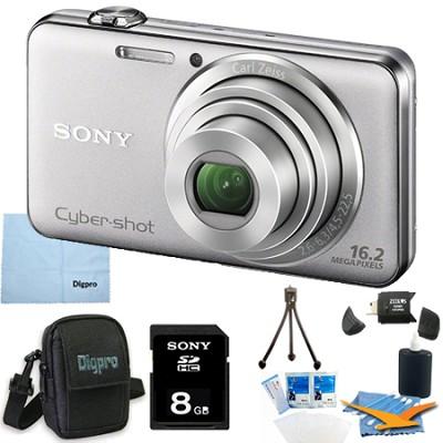 DSC-WX50 - 16.2MP CMOS Camera 5X Zoom 2.7` LCD (Silver) 8GB Bundle