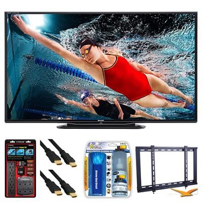 LC-70LE757U Aquos 70` 3D WiFi 240Hz 1080p LED TV Wall Mount Bundle