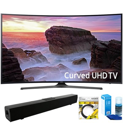 Curved 65` 4K HDR UHD Smart LED TV (2017) + Bluetooth Sound Bar Bundle