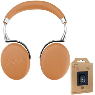 Zik 3 Wireless Noise Cancelling Bluetooth Headphones (Camel) + Battery