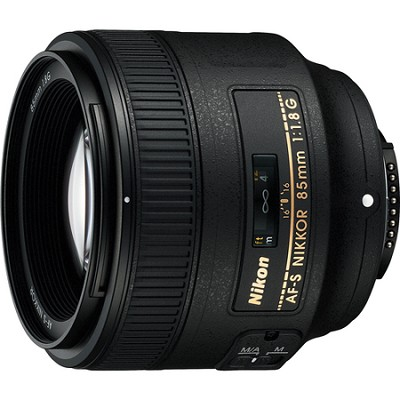 AF FX Full Frame NIKKOR 85mm f/1.8G Fixed Lens with Auto Focus