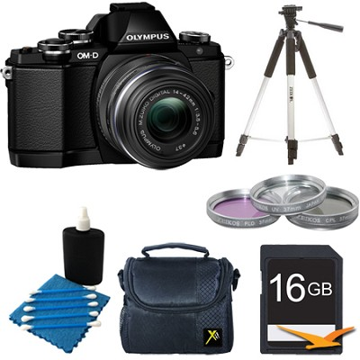 OM-D E-M10 Mirrorless Micro Four Thirds Digital Camera w/ 14-42mm Lens Black Kit
