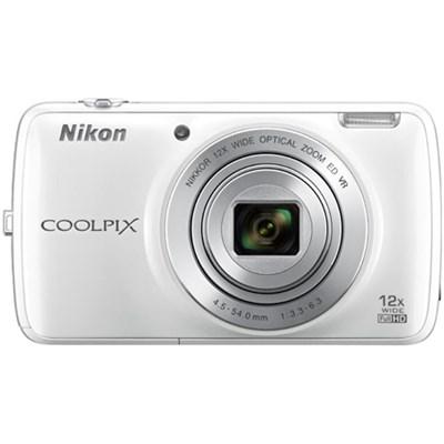 COOLPIX S810c 16MP 12x Optical Zoom Digital Camera - White (Factory Refurbished)