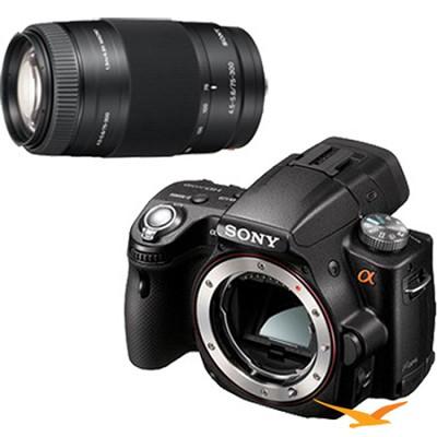 Alpha SLT-A55 16.2 MP DSLR Kit w/ Sony 75-300mm f/4.5-5.6 Tele Zoom Lens