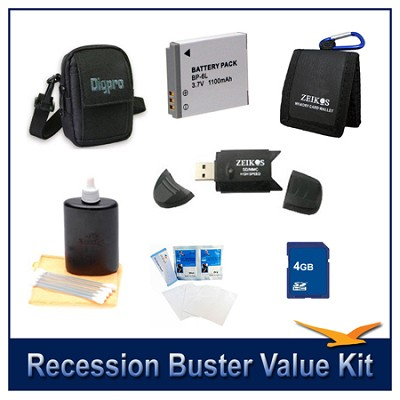 Recession Buster Value Kit for Canon Powershot SX500,SX510,SX700,D30,S95  SX280