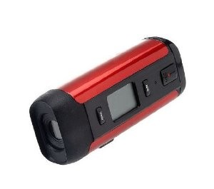 DVR480-RH-TA 1.3 Megapixel Digital Helmet Camcorder (Red)